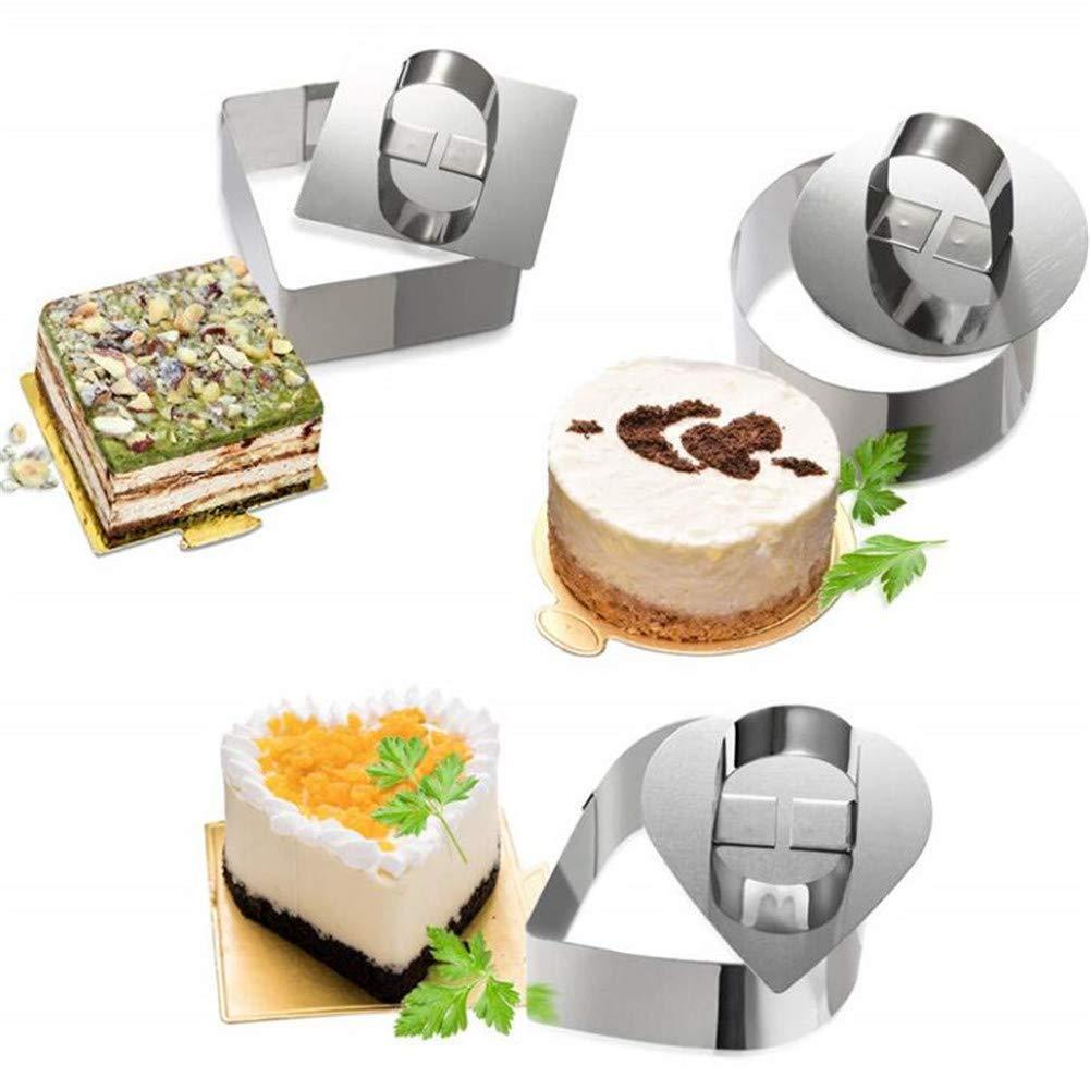 Edelstahl Mousse Kuchen Ringform Ausstecher Form Kuchen Gebäck Backen Möbel L1H5