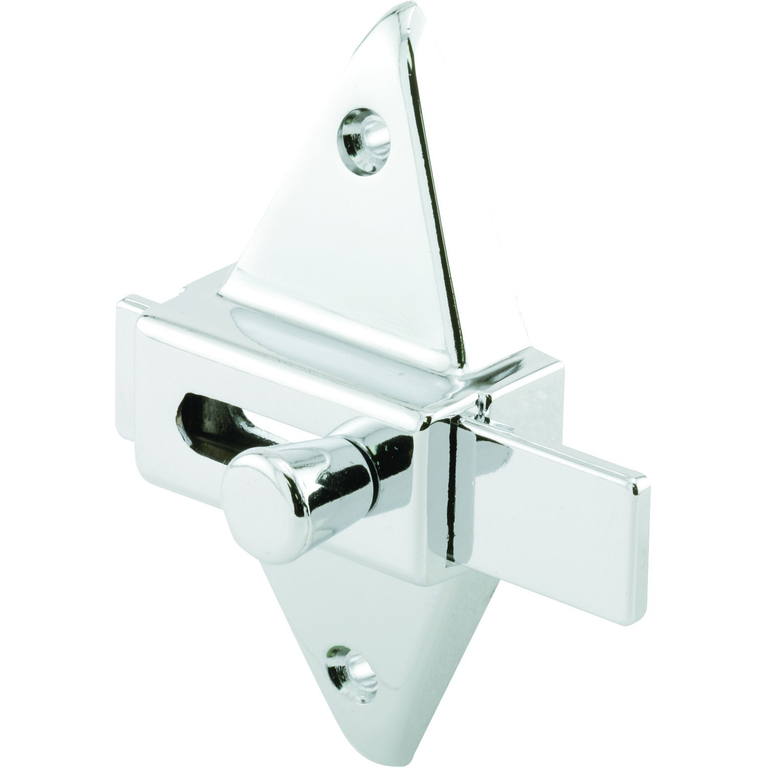 Prime-Line Products PH 17039 Slide Latch, 2-3/4 In. Hole Centers, Diecast Construction, Chrome Plated