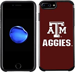 Prime Brands Group Textured Team Color Cell Phone Case for Apple iPhone 8 Plus/7 Plus/6S Plus/6 Plus - NCAA Licensed Texas A&M University Aggies