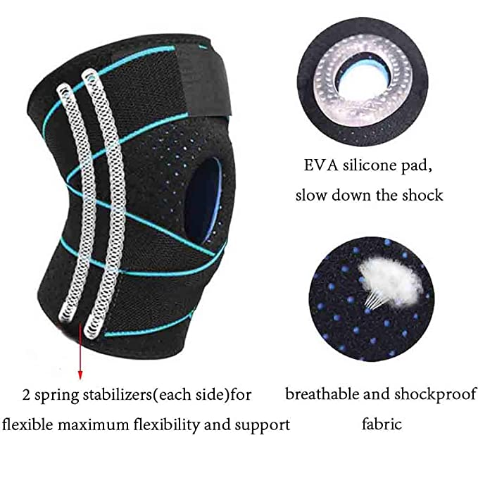 Amazon.com: Knee Brace Open Patella Support Adjustable Stabilizer Strap for Meniscus Tear Non-slip Breathable Single: Sports & Outdoors