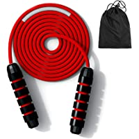 Premium JUMP ROPE TANGLE FREE, Skipping Rope Jumping Rope Soft Non Slip with Carrying Bag : Exercise Workouts Speed…