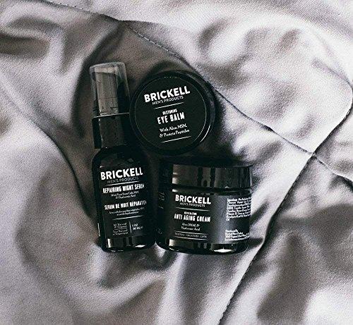 61AoQGu3YYL - Brickell Men's Advanced Anti-Aging Routine, Night Face Cream, Vitamin C Facial Serum and Eye Cream, Natural and Organic, Unscented