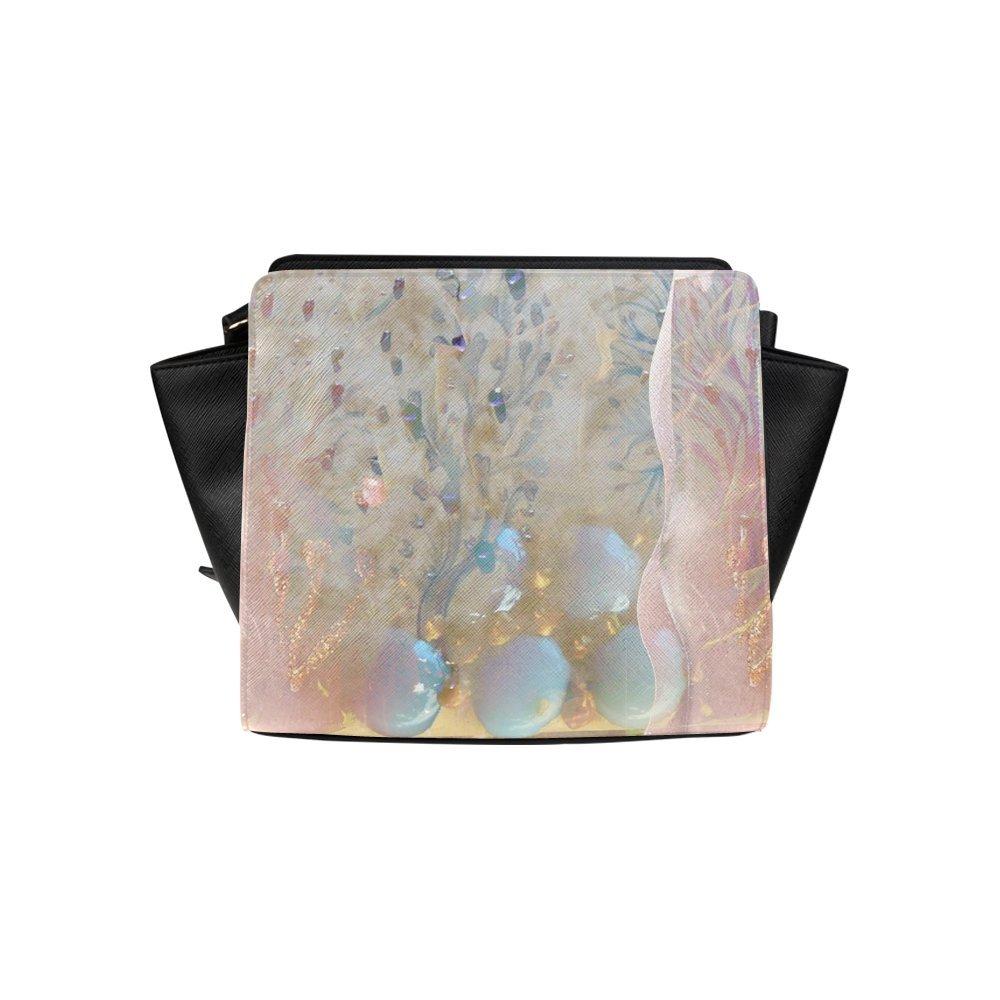 Custom Abstract Flower High-grade PU leather Woman Top Zip Satchel Handbag/Shoulder Bag/Tote Bag For Women Girls SP-69