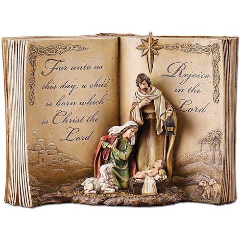 - Holy Family Bible Nativity Scene Resin Stoneware Christmas Decoration Figurine