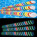 Glow-in-The-Dark Pool Noodles - Inflatable - Rainbow Colored (3-Pack)