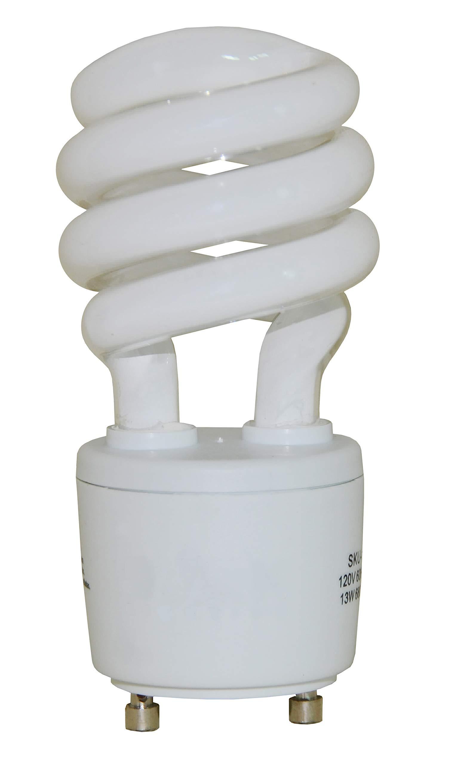 13 Watt Mini Spiral - GU24 Base - (60W Equivalent) CFL Light Bulb - 2700K Warm White - 4pack by CFL Bulb (Image #2)