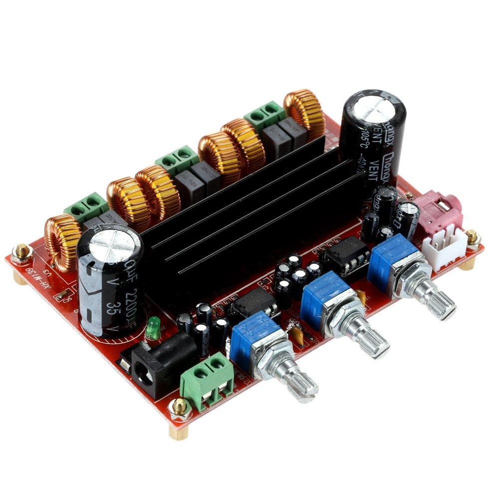 Kkmoon Tpa3116d2 50w2 100w 21 Channel Digital Subwoofer 2x50w Stereo Class D Audio Power Amplifier Circuit Board Ebay Dc12v 24v Electronics