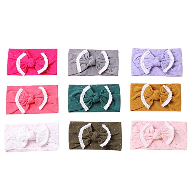 Kids Baby Girls Toddler Xmas Headband Feather Bow Hair Band Headwear Accessories