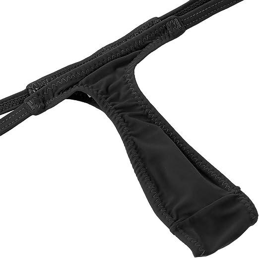 ACSUSS Womens Solid Low Rise G-String Thongs Bikini Tanga Lingerie Underwear