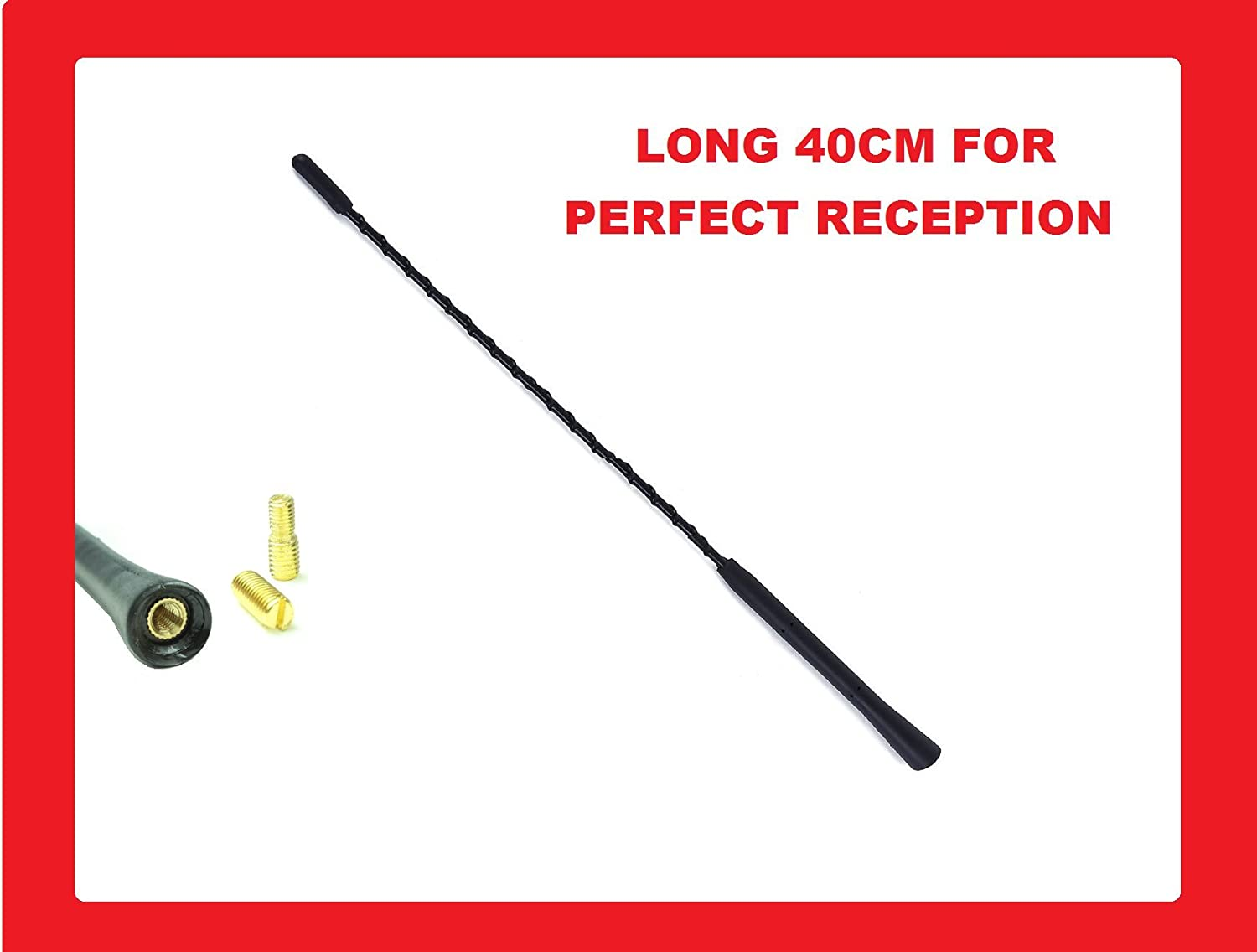 XtremeAuto® MAST.863 AM/FM Aerial Mast Antenna Roof Screw, Sticker Included, Black XtremeAuto®