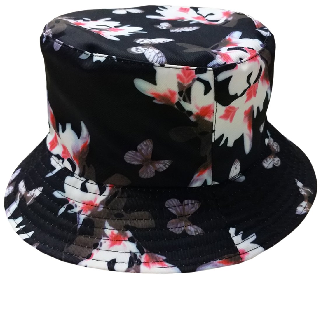 038e2e9f81cf8f ACVIP Women's Print Packable Fisherman Bucket Hat Summer Sun Protection Cap  AWYB74