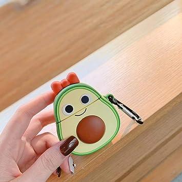 Peach SevenPanda Cute 3D Funny Cartoon Soft Silicone Cover Kawaii Fun Cool Keychain Design Skin Fruits Airpod Case for Apple Airpods 1/&2 Fashion Color Cases for Girls Kids Boys Air pods