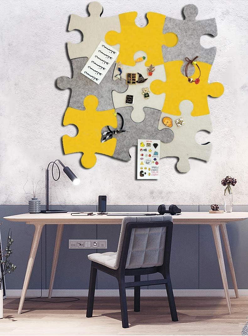 m/émos photos 1 pi/èce en forme de puzzle avec autocollant pour garder vos souvenirs dessins objectifs notes etc. Tableau daffichage mural en feutre en li/ège photos