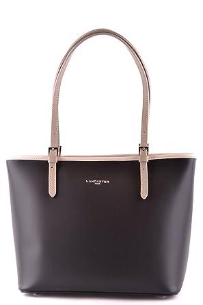 Messenger Bag for Men, Black, Leather, 2017, one size Lancaster
