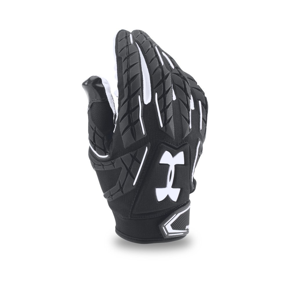 Under Armour Men's Fierce VI Football Gloves, Black/Black, Small