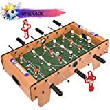 Portzon Foosball Table, Mini Tabletop Billiard Game Accessories Soccer Tabletops Competition Games Sports Games Family…
