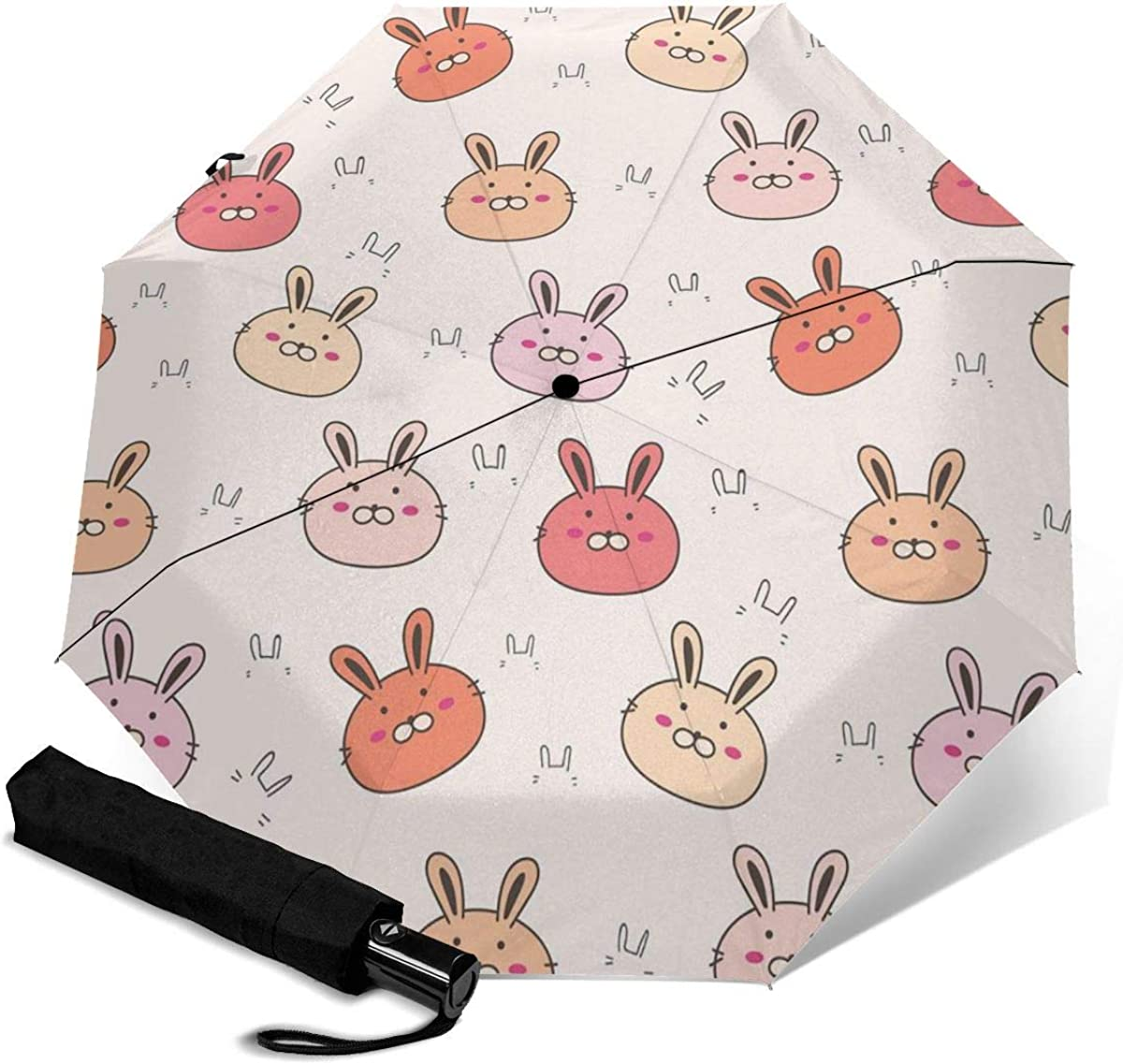 Colored Bear Avatar Compact Travel Umbrella Windproof Reinforced Canopy 8 Ribs Umbrella Auto Open And Close Button Customized