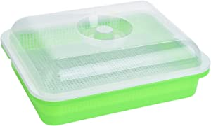 SHEING Sprouting Seeds Tray, BPA Free Soil-Free Big Capacity Sprouter, Healthy Wheatgrass Grower with Lid Sprouting Kit, Perfect for Growing Sprouts and Micro Greens