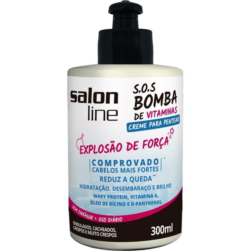 Linha Tratamento (SOS Bomba de Vitaminas) Salon Line - Creme Para Pentear Explosao De