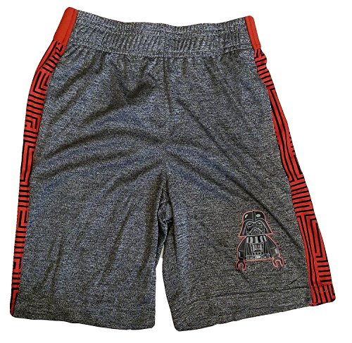 Flash Basketball Shorts - Bundled Brands Boys Youth Printed Performance Basketball Athletic Shorts (XSmall 4/5, Gray - Star Wars)