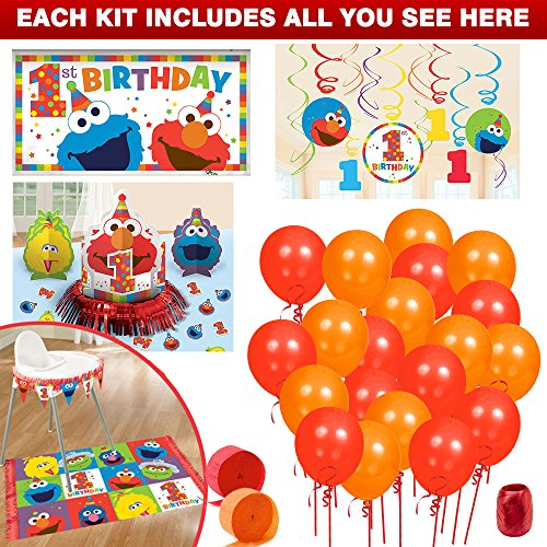 - Costume SuperCenter Elmo Turns One Decoration Kit