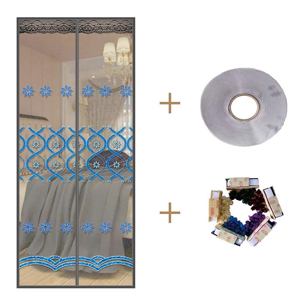 AOHMG Magnetic Screen Doorfor French Door, Self Sealing Heavy Duty Hands Free Mesh Mosquito Door Screen, Pet and Kid Friendly,31x83in/80x210cm