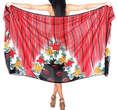 traje de baño traje de baño Ropa de Playa envoltura del bikini encubrir baño traje de falda de mantón Rojo