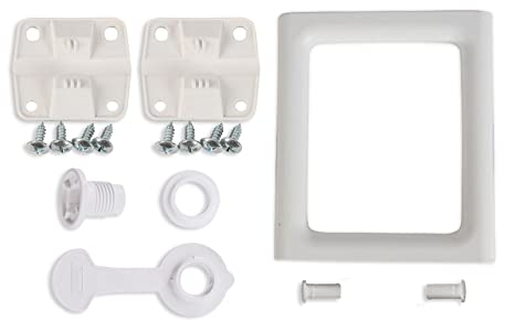 Coleman Ice Chest Cooler Replacement Parts Complete Set - 2 Plastic Hinges  With Screws, 2-Way Swing Handle, Drain Plug Assembly (1