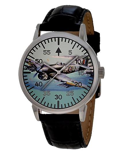 Rare Hawker Typhoon RAF conmemorativa de la Segunda Guerra Mundial aviones de caza Coleccionable reloj de pulsera: Amazon.es: Relojes