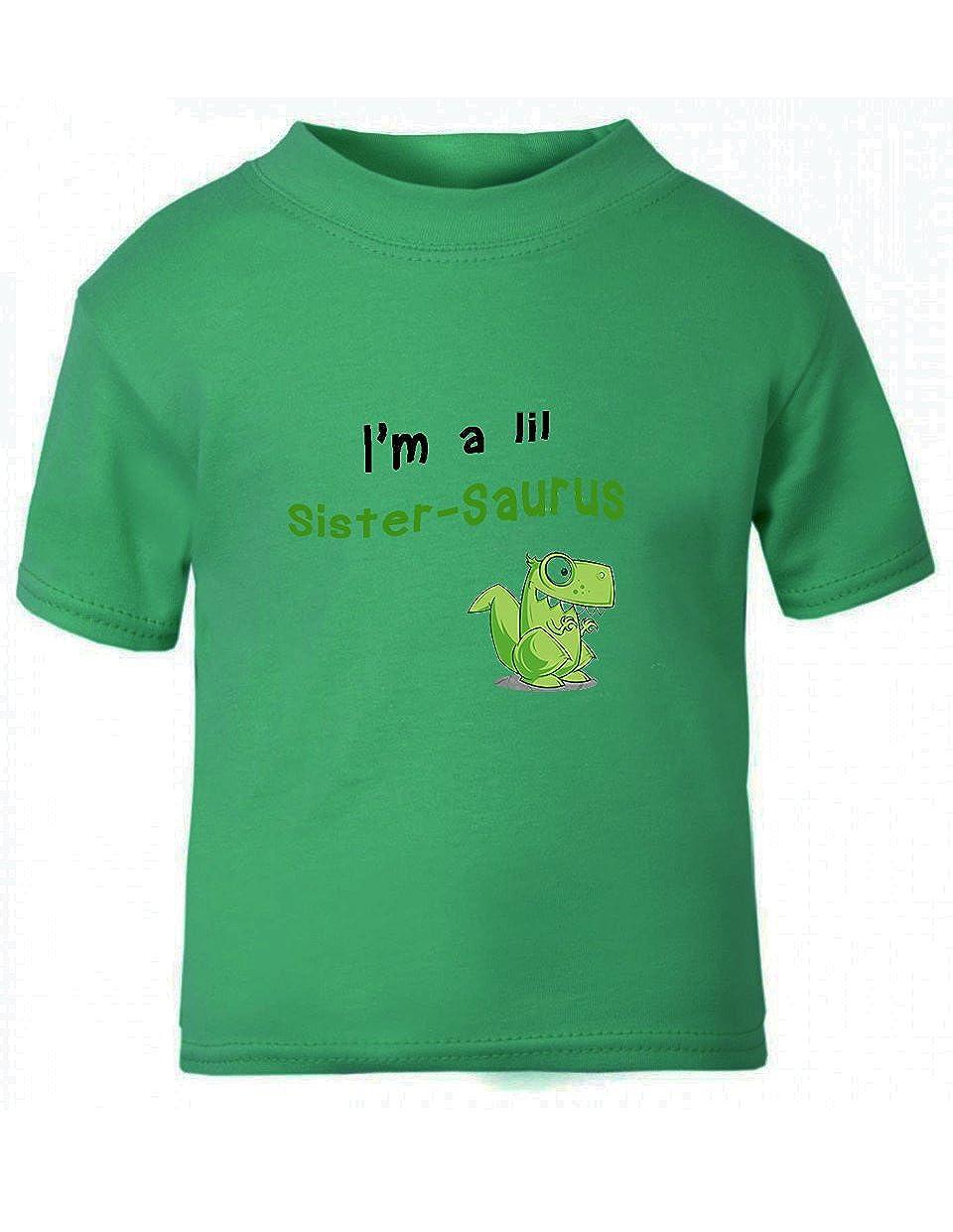 Green Dinosaur Dino Little Sister-saurus Toddler Kid T-shirt Tee 6mo Thru 7t TTANI0048