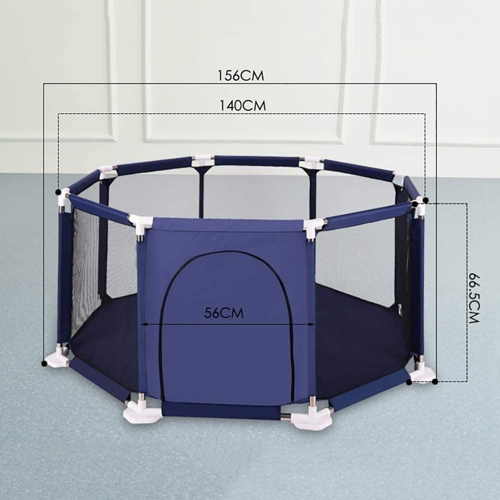 Color: Blue DBWIN Parcs pour Enfants Baby Activity Center Baby Fence 8 Panel Fence Indoor and Outdoor Safe Play Area 140x56x66CM