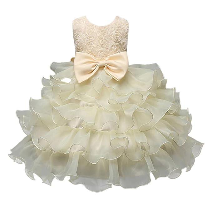 Amazon.com: Moonker Girls Princess Dress, Children Girls Kids Flower ...