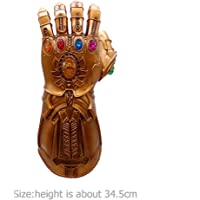 Thanos Hand Avenger LED Gloves PVC Action Figure Model Toys Boys Cosplay Halloween Props Sunsoar Birthday Holiday New Year Christmas Gift