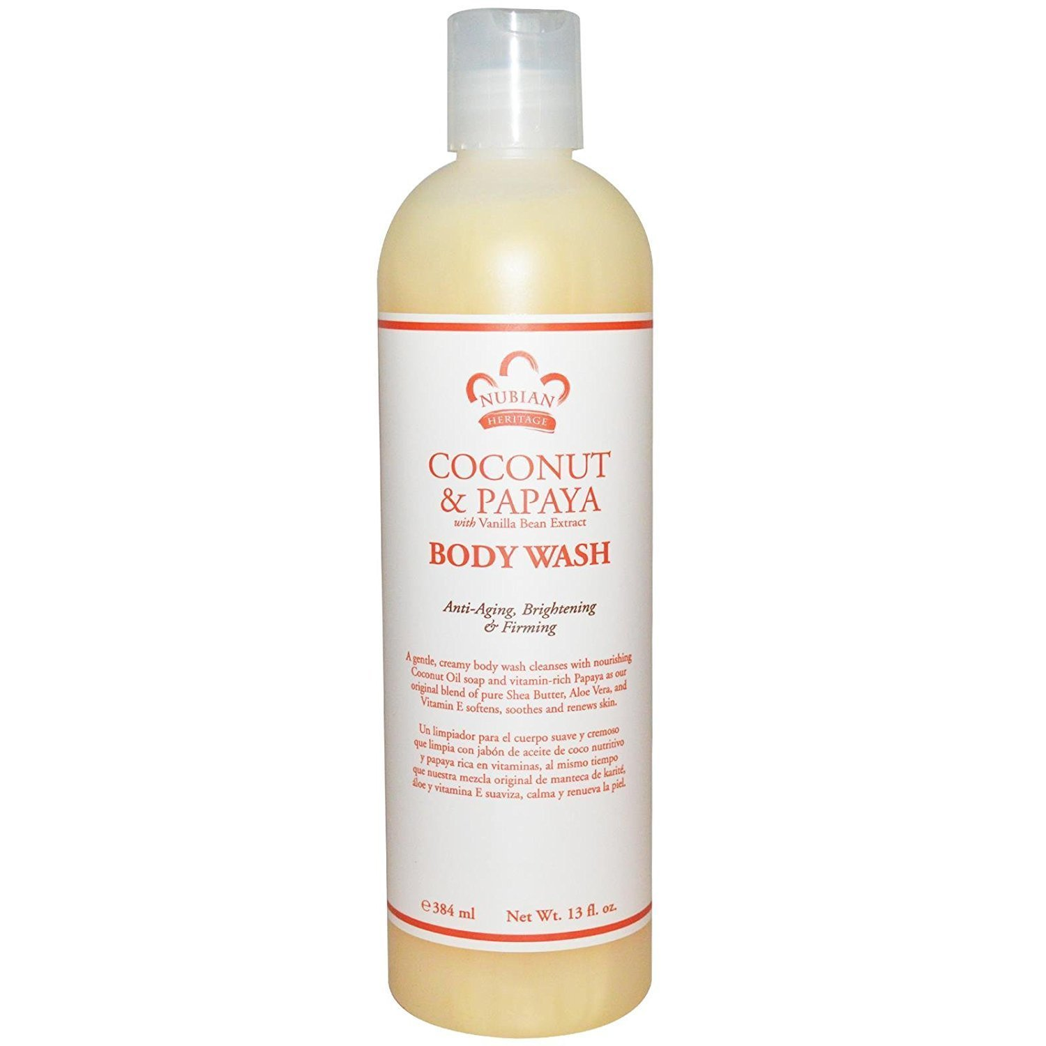 Amazon.com : Nubian Heritage Body Wash Coconut Papaya : Bath And Shower Gels : Grocery & Gourmet Food