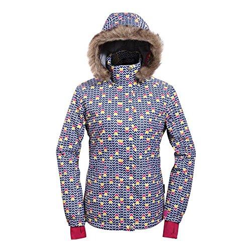 Doll スノーボードウェア スキーウェア レディース 上下セット 【NvyHtDot×パンツ6color】デニムパンツ