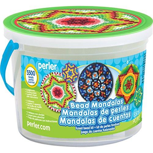 Perler Beads Mandala Craft Bead Bucket Activity Kit, 5505 pcs