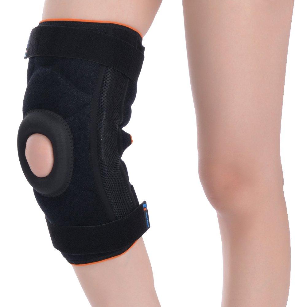 TIMTAKBO Hinged Knee Brace Support Wrap Arround for Arthritis,Running,Meniscus Tear (Medium) B07CV8GDFC Medium