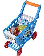 140fa9749c Zerodis Carrito de la compra, juguete para niños supermercados, simulación  de la compra,