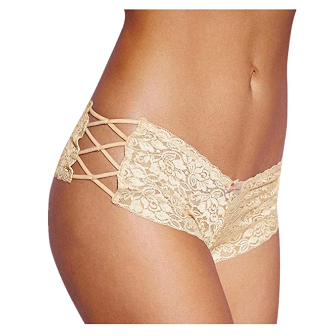 Damen Dessous Shorts FORH Frau Sexy Unterwäsche Pantys Elegant Spitze Blume Hot Pants Elastische Hipster Boxershorts Transpar