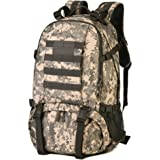 Huntvp 40L Tactical Military Backpack Rucksack Gear Assault Pack for Camping Hunting Working School Trekking Travel with Shoe Storage Compartment