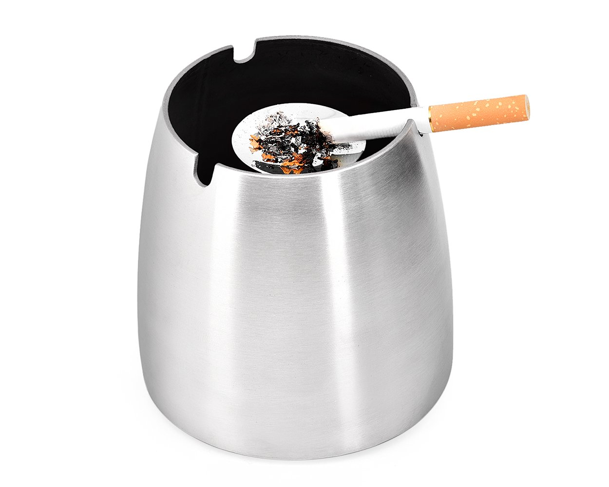 Ace Select Stainless Steel Ashtray, Windproof Cigar Ashtray, Unbreakable Smokeless Ash Holder