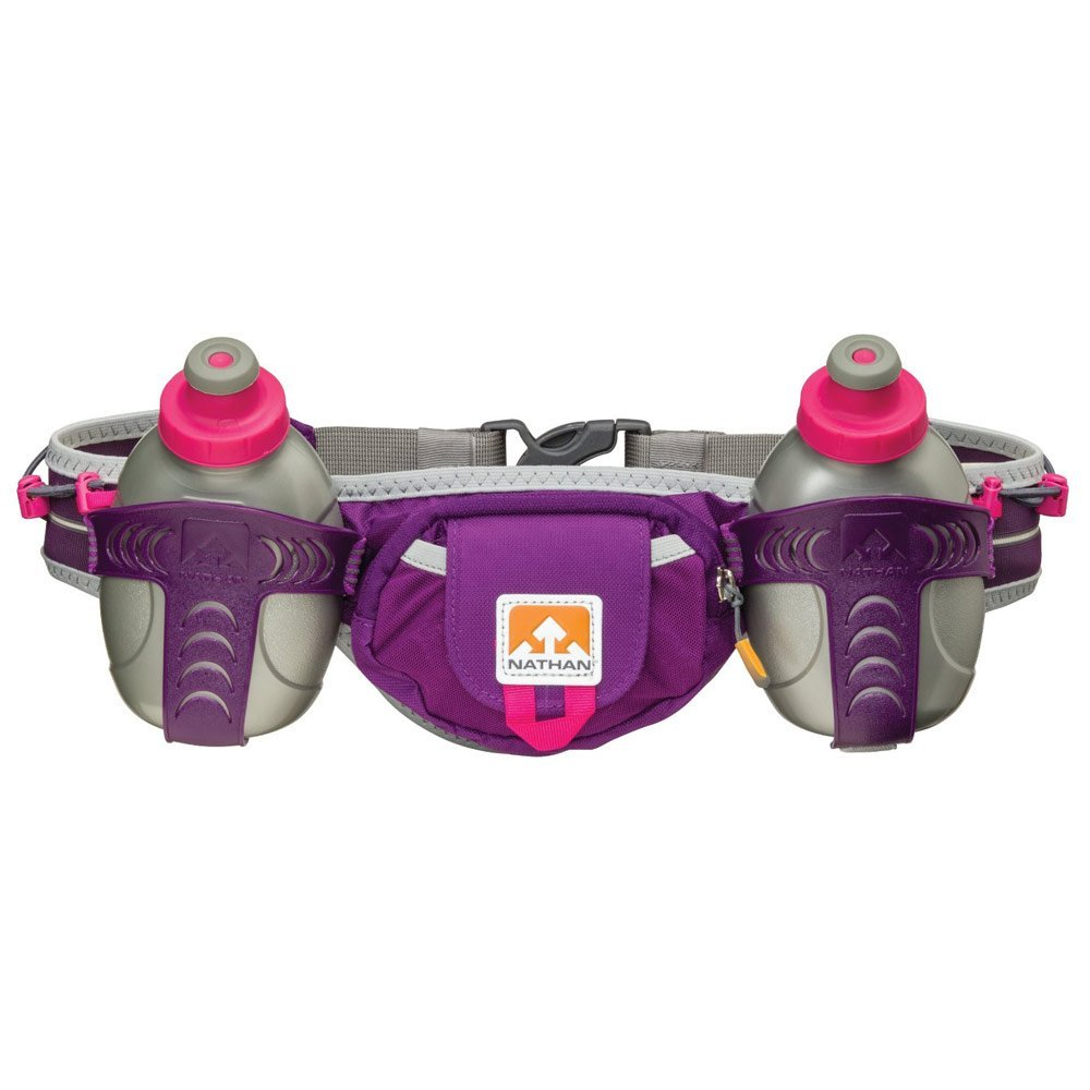 Nathan Hydration Running Belt Trail Mix - Adjustable Running Belt - Includes 2 Bottles - Fits iPhone 6/7/8 Plus and Other 6.5 Inch Smartphones - Imperial Purple