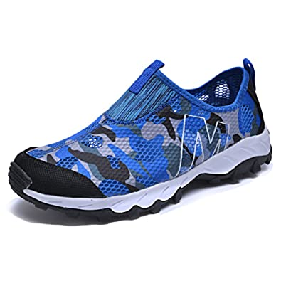nihiug Randonnée Chaussures Hommes Imperméable en Cuir Été Chaussures D'été Respirant Mesh Chaussures Sneakers,Pink-43