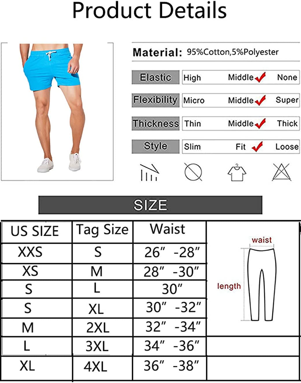 JackieLove Mens Sweat Gym Lounge Running Workout Athletic Joggers Shorts