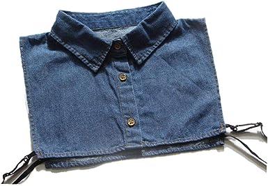 Cuello Camisa vaquera desmontable de la vendimia collar falso lazo de la solapa de la blusa de las mujeres: Amazon.es: Ropa y accesorios