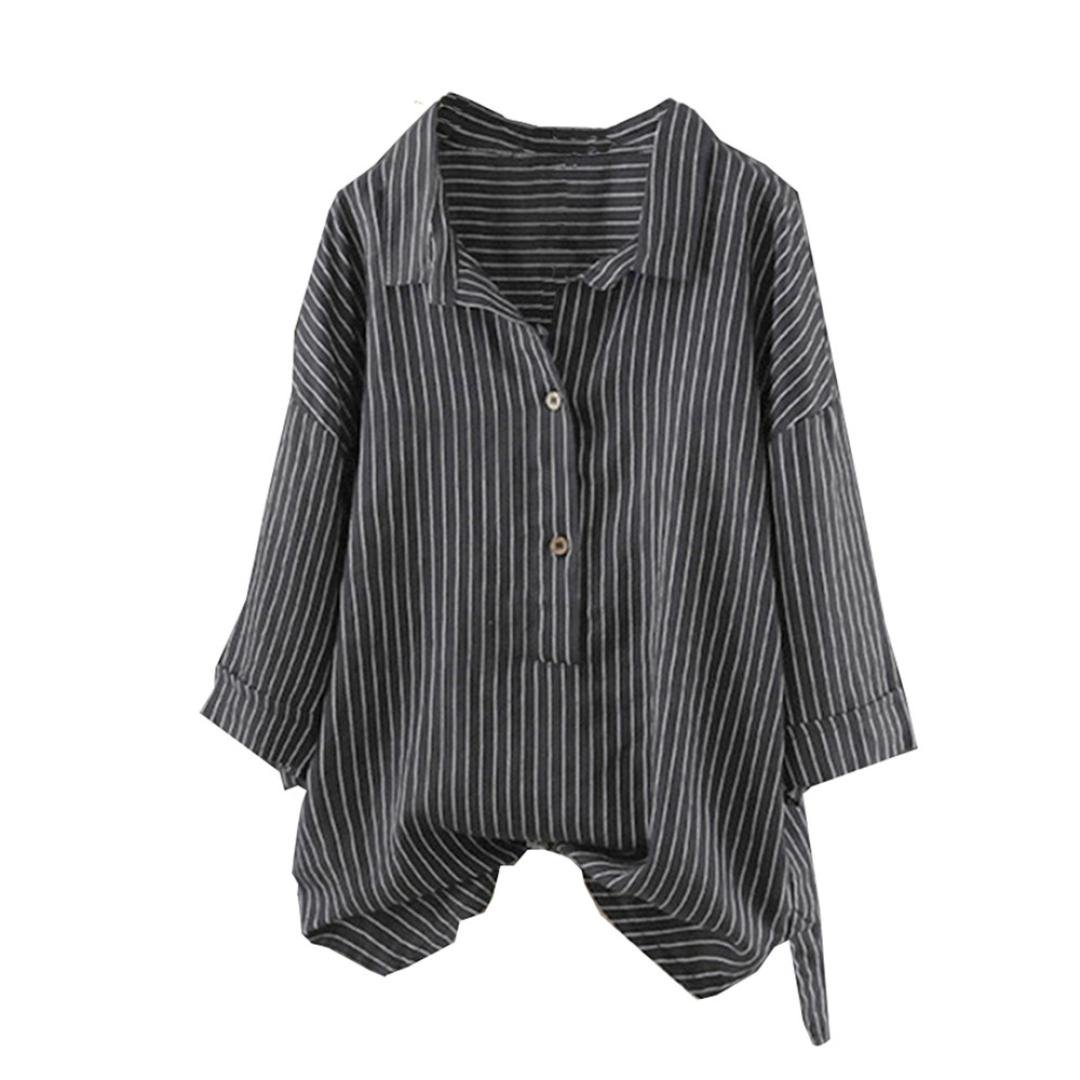 28b0ebbaec ❤ ❤ ❤ ❤️Plus Size Blouses For Women Fashion 2018 Loose Fit Long Sleeved  Shirt ❤ ❤ ❤ ❤️Material Cotton And Linen. Plus Size Women Fashion ...
