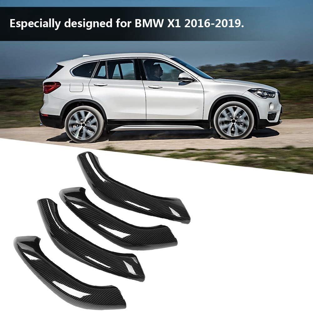 4 St/ück Carbon Style Car Interior T/ürgriffabdeckung Trim f/ür X1 X2 2016-2019 Qiilu T/ürgriffabdeckung