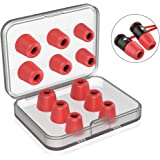 [6 Pairs] Earphone Tips New Bee 12pcs Premium Earbud Tips Blocking Out Ambient Noise Memory Foam Earbuds Inner 4.9mm for…