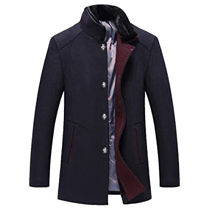 Clearance Sale for Coat.AIMTOPPY Mens Fashion Business Windbreaker Long Thicken Slim Woolen Coat Outwear