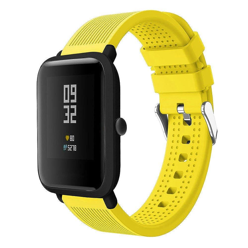 ... Liquidación Accesorios de Reloj Deportivo de Silicona Correa de Reloj Pulsera para Huami Amazfit Bip Watch Reloj Inteligente (Amarillo): Amazon.es: Ropa ...